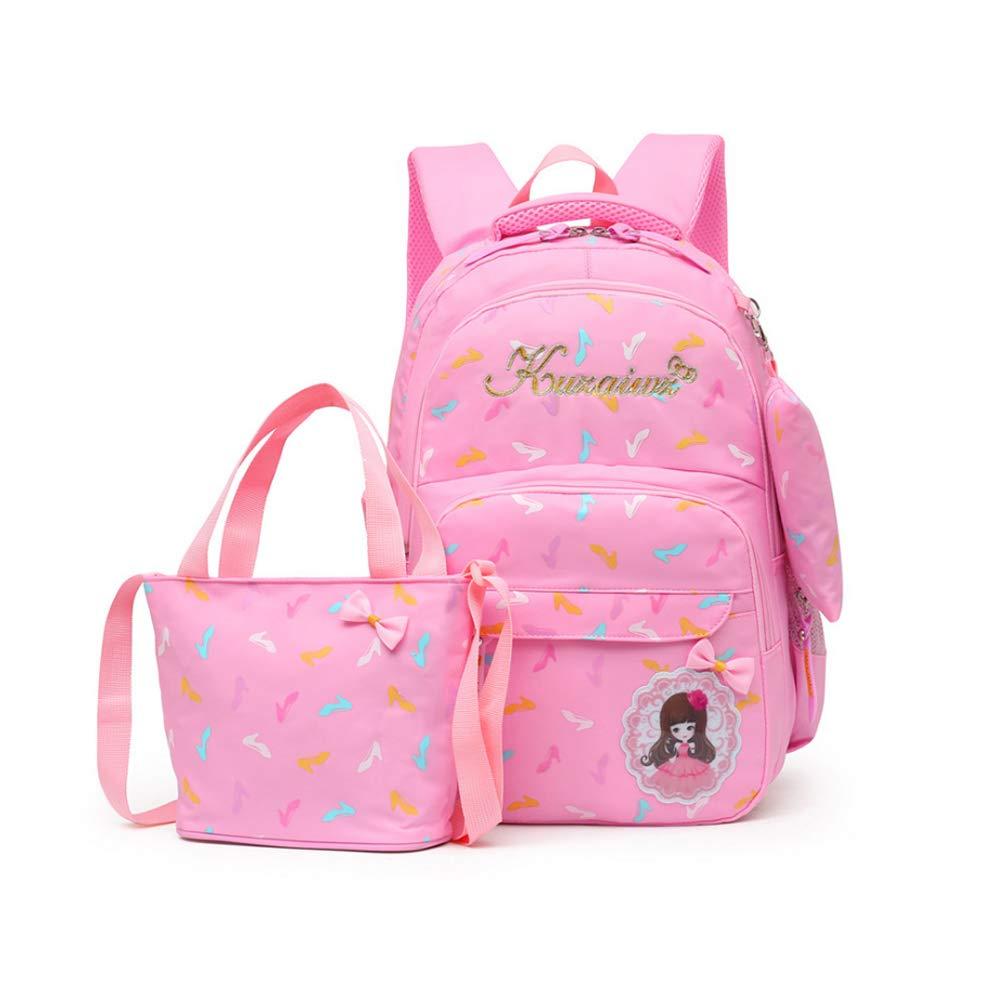 Sac d/'/Épaule+Crayon sacs MCUILEE /École Sac /à dos//3pcs Enfants sac /à sac /à dos scolaire pour les filles Rose