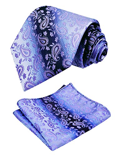 Pocket Square Alizeal Paisley with Lilac Classic Set Tie Mens xXwYqzCw6