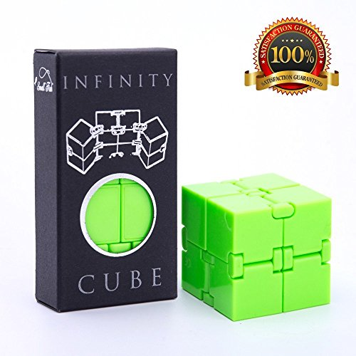 Infinity Cube Fidget Toy Best for Kids and Adults, Luxury EDC Fidgeting Game, Cool Mini Gadget for Stress and Anxiety Relief and Kill Time, Unique Gift Idea that is Light on the Fingers and Hands (Tactile Cube)