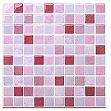 HUE DECORATION Backsplash Peel and Stick Tile, Stick on Backsplash Tile for Kitchen Pack of 8