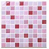 HUE DECORATION Backsplash Peel and Stick Tile, Stick on Backsplash Tile for Kitchen Pack of 8