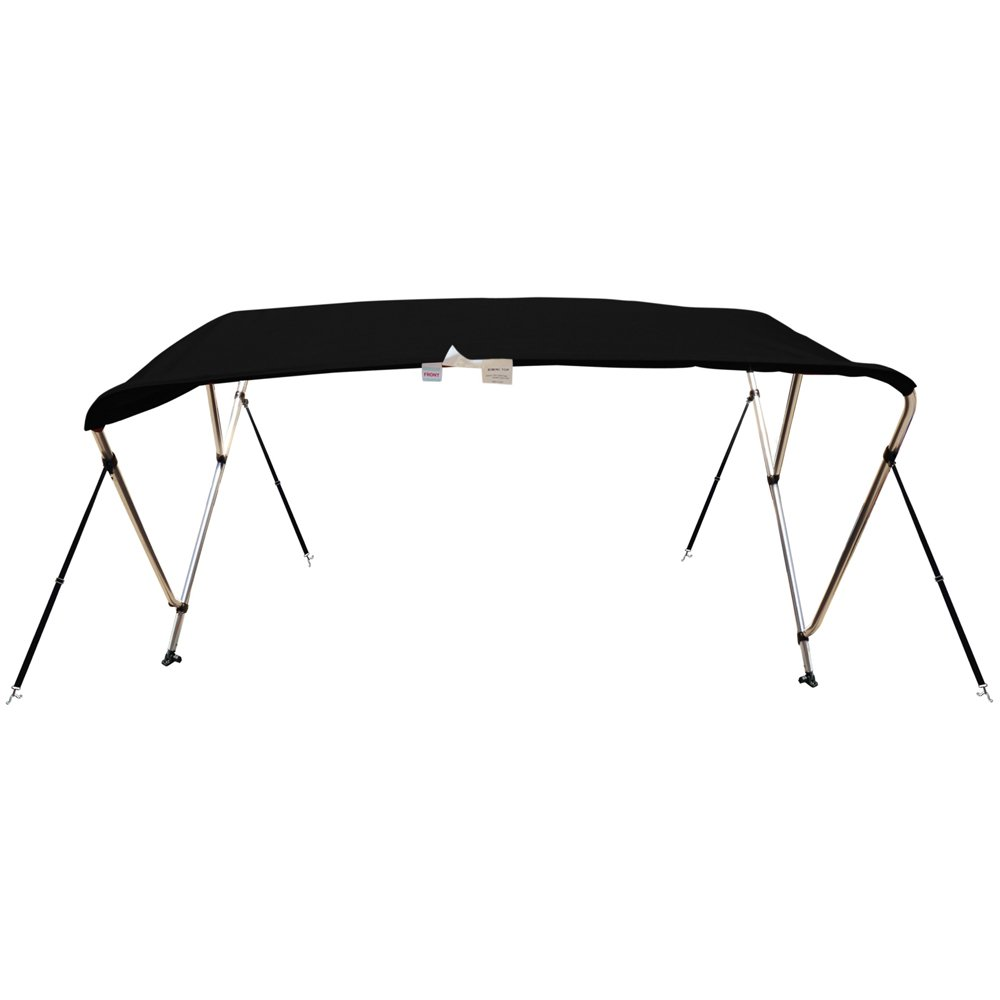 Naviskin Black 3 Bow 6'L x 46'' H x 61''-66'' W Bimini Top Cover Includes Mounting Hardwares,Storage Boot with 1 Inch Aluminum Frame