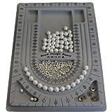 Plastic Bead Design Boards for Jewellery making Bracelet Necklace DIY, Grey, Size: 33x24x1cm