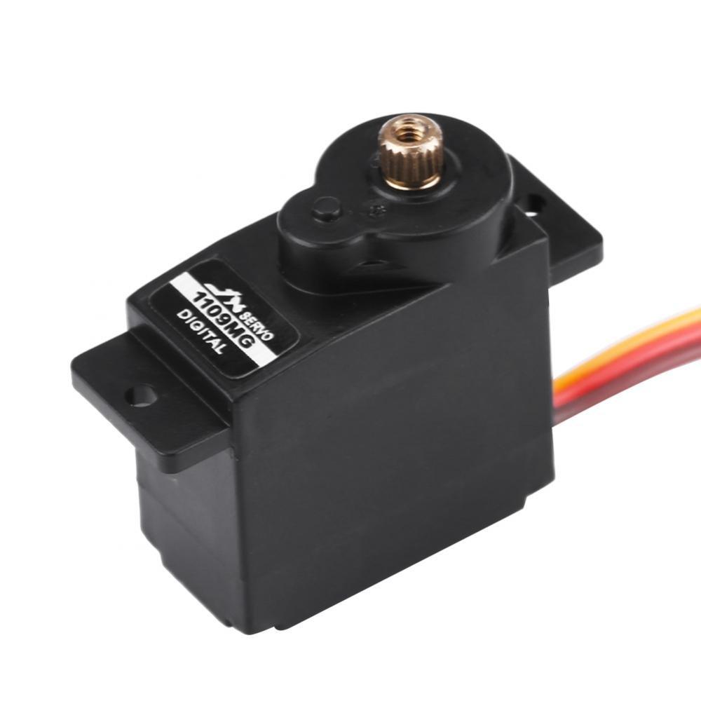 9g Digital Servo, 4.8-6V Mini Micro Metal Servo de Engranaje para RC Modelo Avión de ala Fija Dilwe