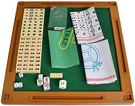 Lixada Mahjong Mini Plegable Set Juego de Mesa Multifuncional para Viajes Ocio Familiar: Amazon.es: Deportes y aire libre