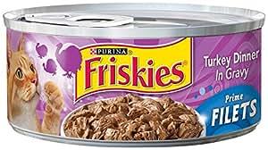 Purina Friskies Prime Filets Turkey Dinner in Gravy Cat Food - (24) 5.5 oz. Pull-top Can