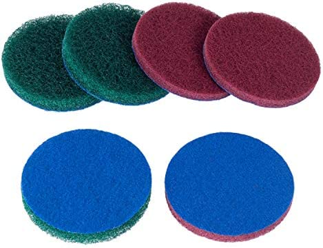 6-Pack Replacement Scrub Pads For Use With RotoScrub Bathroom Cleaning Drill Accessory Kit and More