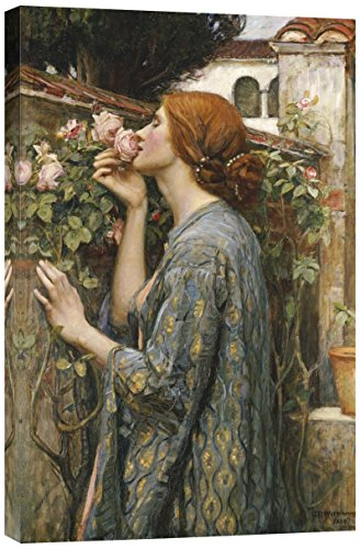 Global Gallery GCS-265781-30-142 John William Waterhouse The Soul Of The Rose Gallery Wrap Giclee on Canvas Print Wall Art ()