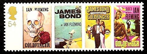 James Bond Ian Fleming Goldfinger Movies UK -Handmade Framed Postage Stamp Art 17022 (Stamp Framed)