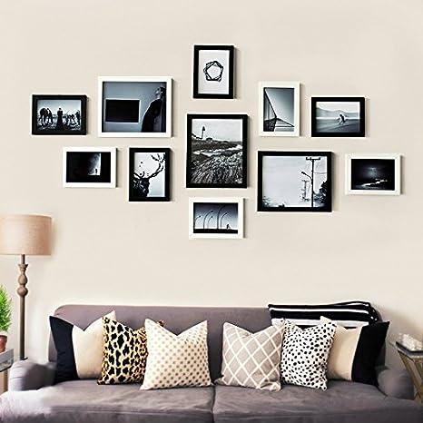 xkdhc® kontinentale Salón pared Ideas, que Madera Foto Frame Marco ...