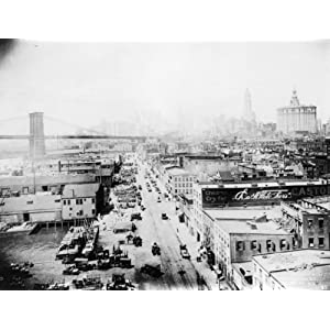 c1917 photo South Street, N.Y. Bird's-eye view of South Street, New York City c5