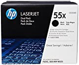HP 55X 2-pack High Yield Black Original LaserJet Toner Cartridges (CE255XD)