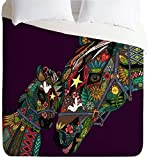 Deny Designs Sharon Turner Horse Love Duvet Cover, Queen