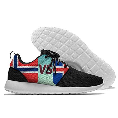 Yoigng Mens De Vlag Van Ijsland Noorwegen Jogging Schoenen Sport Sneakers Casual Schoenen