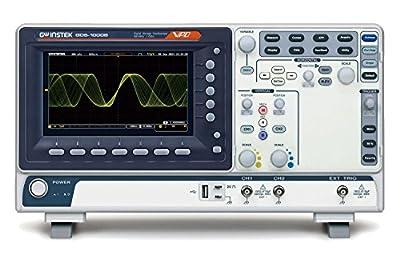 GW Instek GDS-1072B Digital Storage Oscilloscope, 2-Channel, 1 GSa/s Maximum Sampling Rate, 70 MHz, 10M Maximum Memory Depth