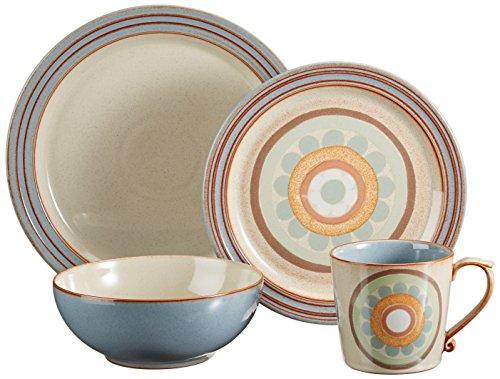 Denby 16-Piece Heritage Terrace Dinner Set, Set of (Denby Large Salad Bowl)