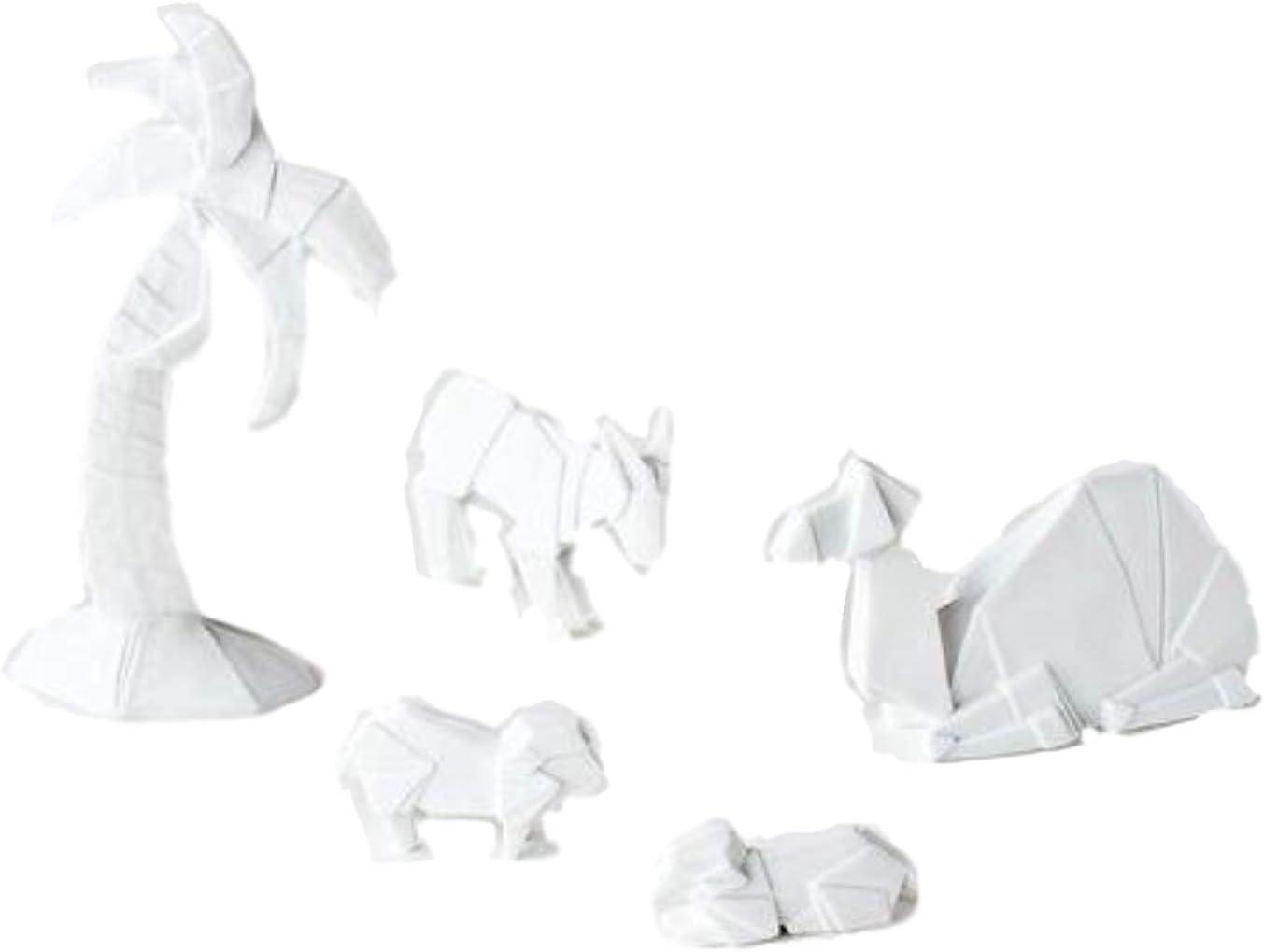 Porcelain Origami Nativity Set Backdrop One Hundred Eighty Degrees