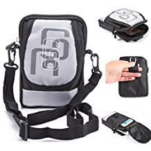 Multifunctional Sports & Outdoor Waist Pack Bag Cellphone Cross-body Shoulder Bag Holster with Belt Clip and Belt Loop for Carrying iPhone 6s 6 plus 5S LG HTC Samsung S5 S6 Edge Plus Note 5 4(White)