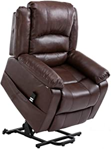 Homegear Air Leather Heavy Duty Dual Motor Power Lift Electric Recliner