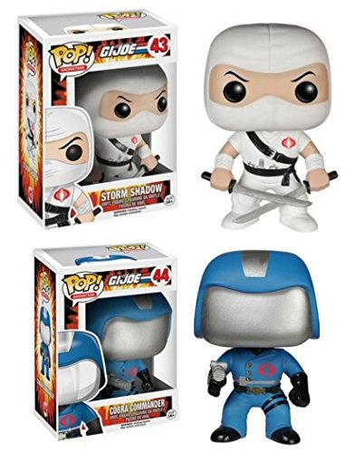 Funko POP! G.I. Joe: Storm Shadow & Cobra Commander - TV Cartoon Vinyl Figures NEW