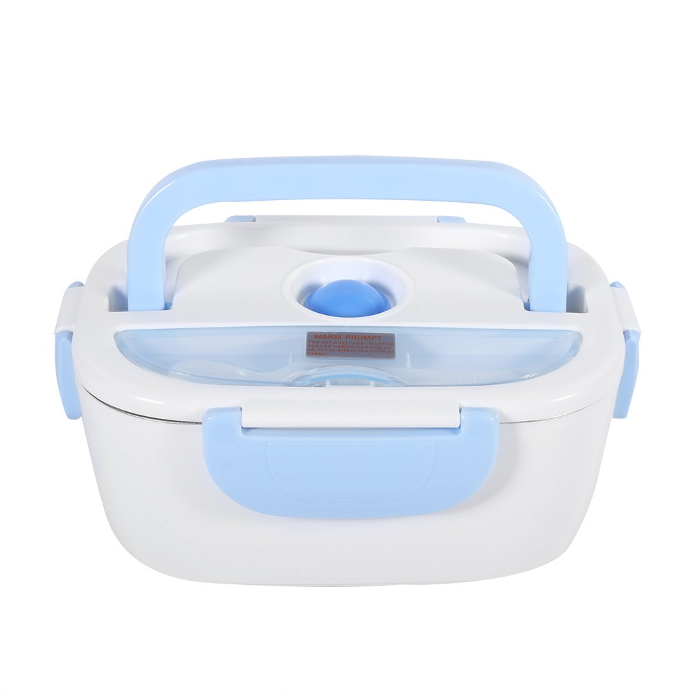GLOGLOW 1.5L Lunch Box for Kids,Stainless Steel Bento Box Eco-Friendly Portable Electric Meal Prep Reusable Food Heating Warmer Lunch Kit for Home School Office(Blue)