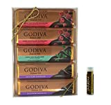 Godiva Classic Chocolate DARK BAR GIFT SET with Dark Chocolate Raspberry, Mint Chocolate Chip in Dark Chocolate Truffle & Solid Dark Chocolate with a Jarosa Chocolate Bliss Lip Balm