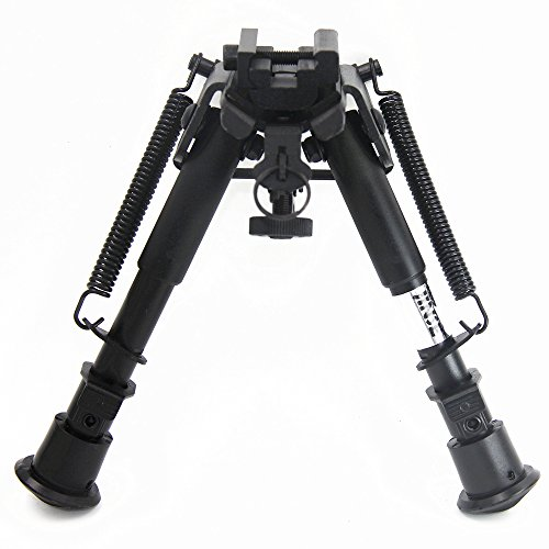 JINSE Rifle Bipod Sling Swivel Mount Folding Adjustable Height 6-9 Inches with 22mm Mount Adapter