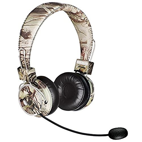 Blue Tiger Dual Elite Wireless Bluetooth Headset - Premium Noise Cancelling Headphones with No Wires - Ideal Driving, Gaming and Music Accessories - 50 Hour Talk Time - Tree Camo