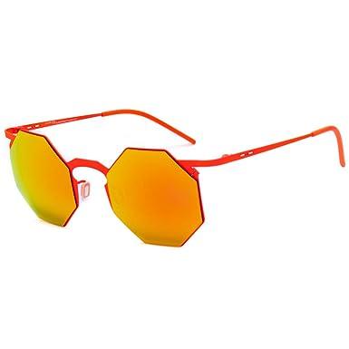 italia independent 0205-055-000 Gafas de Sol, Naranja, 47 ...