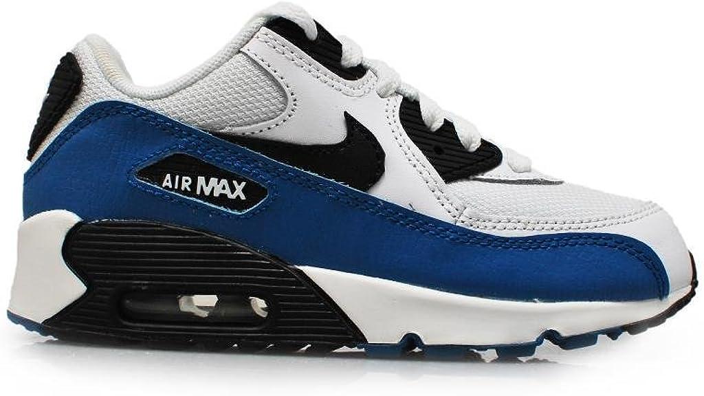 Nike pour Enfant – Air Max 90 (PS) – Blanc Noir Militaire
