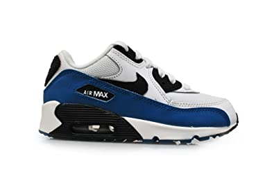 805dd3071e8 Nike pour Enfant - Air Max 90 (PS) - Blanc Noir Militaire Bleu Gris ...