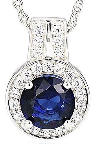 chariot-trading-silver-pendant-chain-for-women-round-blue-crystal