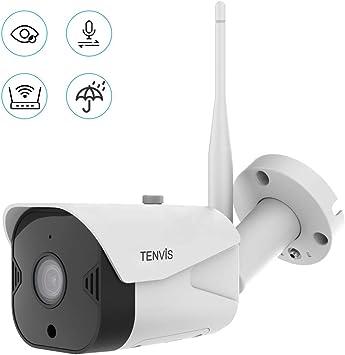 Cámara de Vigilancia WiFi Exteriores - Cámara de Seguridad FHD 1080P Inalámbrica, IP66 a Prueba de Agua/Audio Bidireccional/Visión Nocturna/Notificación de Alerta Funciona con Alexa: Amazon.es: Bricolaje y herramientas