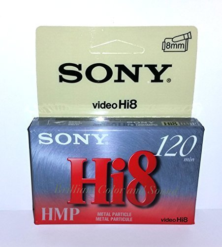 Sony Video Hi8 120 minute HMP Metal Particle P6-HMPD - Hang Tab - Single Tape by Sony