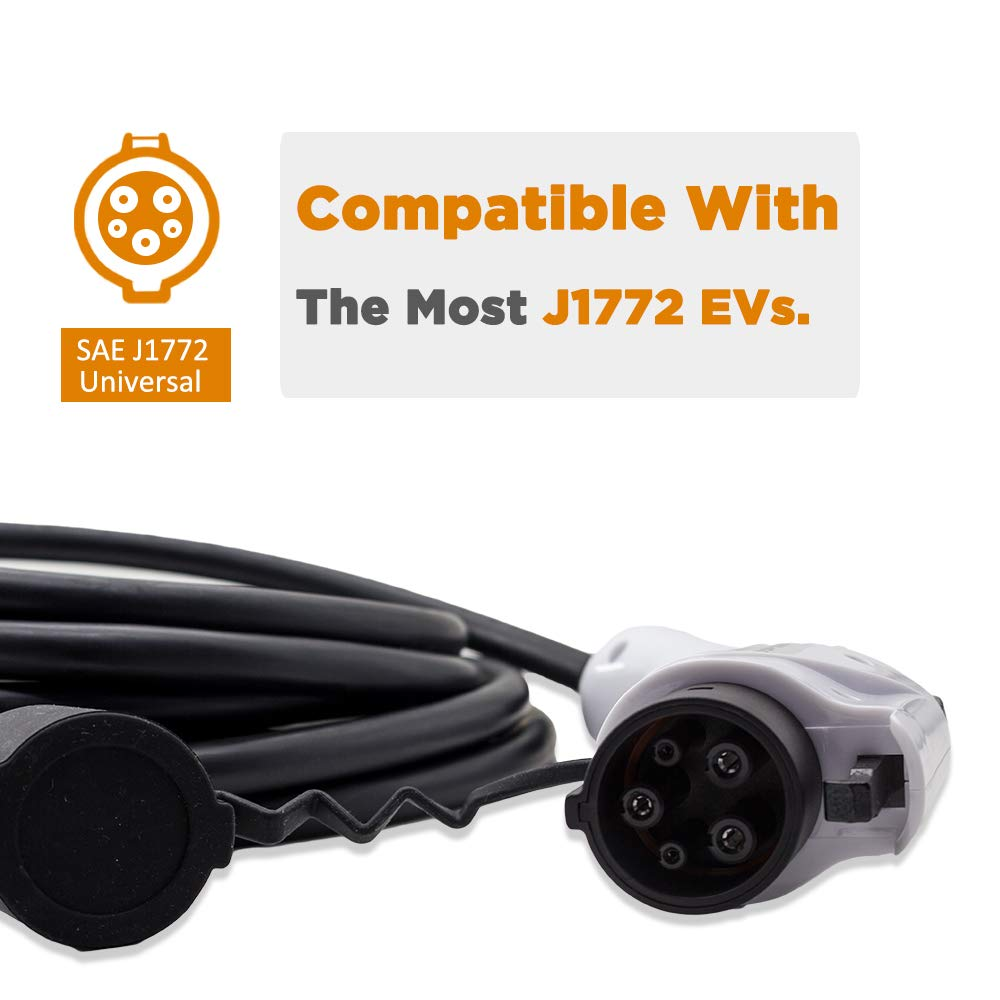 MUSTART 32 Amp 20 Ft J1772 Extension Cord for EV Charger Electric Vehicle Charging Stations by MUSTART (Image #4)