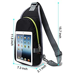WATERFLY Sling Chest Bag, Water Resistant Compact Lightweight Cross Body Bag Daypack for Men Women Teenager Working Cycling Hiking