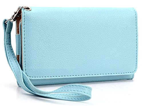 ladies-sky-blue-cellphone-holder-plus-removable-wristlet-strap-for-lg-viper-4g-lte-ls840