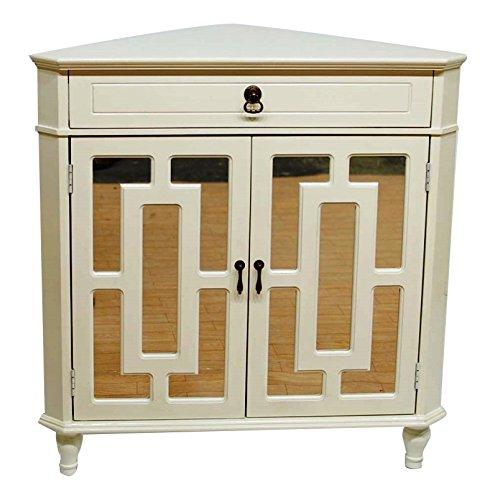 Heather Ann Creations Corner Cabinet, Antique White