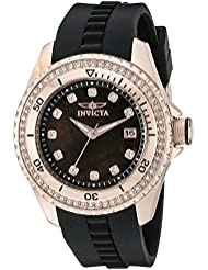 Invicta Womens 21382 Wildflower Analog Display Quartz Black Watch