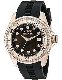 Women's 21382 Wildflower Analog Display Quartz Black Watch