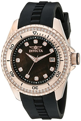 Invicta Women's 21382 Wildflower Analog Display Quartz Black Watch