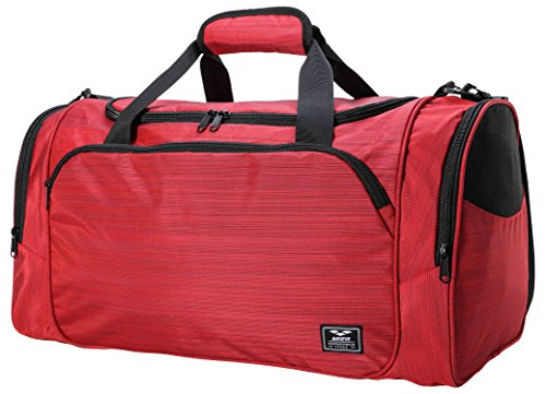 MIER 21'' Sports Gym Bag with Wet Pocket Travel Duffel Bag for Men and Women, Red by MIER