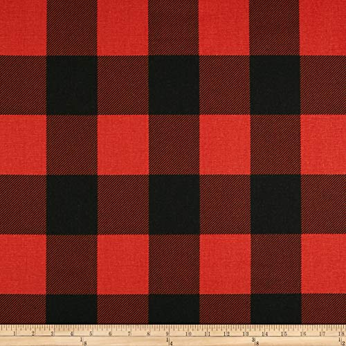 Premier Prints Buffalo Check Fabric, Red/Black, Fabric By The Yard