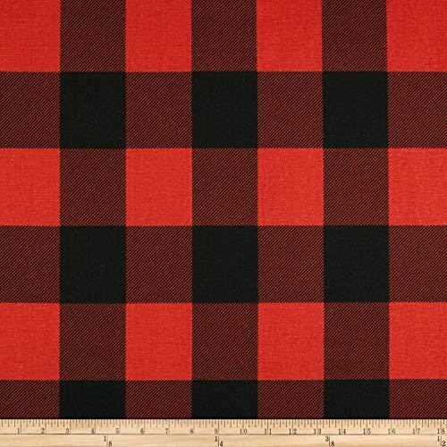 N-dry Cut Foam (Premier Prints Buffalo Check Fabric, Red/Black, Fabric By The Yard)