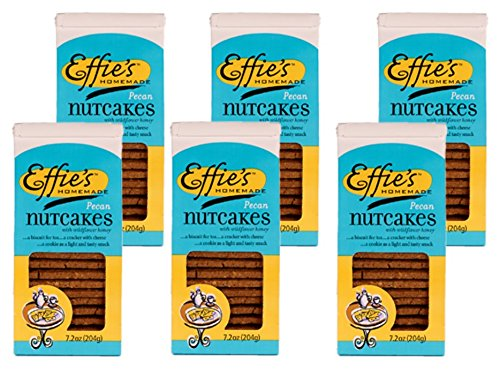 - Effie's Nutcakes with Pecans, All-Natural Homemade Lightly Sweetened Gourmet Biscuits, For Real Food Lovers Craving Homemade Taste (6 Pack)