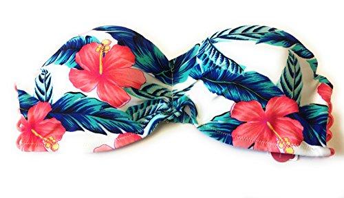 Womens White Floral Strappy Bikini product image