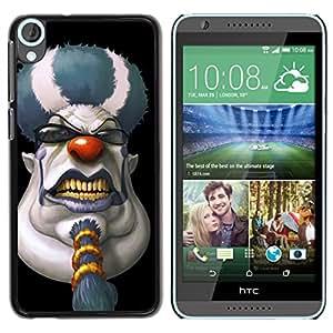 - Clown Evil Joker - - Monedero pared Design Premium cuero del tir¨®n magn¨¦tico delgado del caso de la cubierta pata de ca FOR HTC Desire 820 D820 d820t Funny House