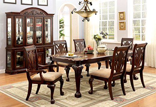 Furniture of America Bonaventure 7-Piece Traditional Style Dining Set