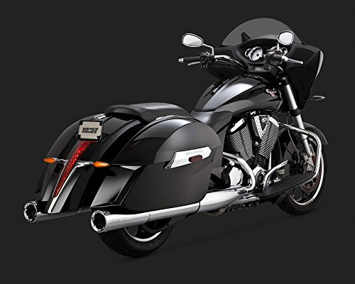 10-16 VICTORY CROSSCNTRY: Vance & Hines Hi-Output Slip-On Exhaust (Chrome) ()