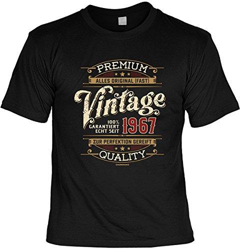 T-Shirt - Vintage garantiert echt seit 1967 zur Perfektion gereift - cooles Shirt mit lustigem Spruch als ideales Geburtstagsgeschenk
